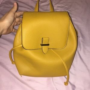 Handbags - Mustard Yellow Backpack